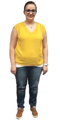 Nicole Leutwiler  de Schöftland avant de perdre du poids avec ParaMediForm