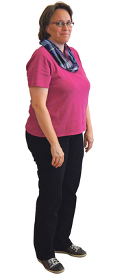 Sarah Röthlisberger de Luterbach avant de perdre du poids avec ParaMediForm