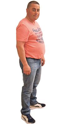 Carlos Quinta de Zuchwil avant de perdre du poids avec ParaMediForm