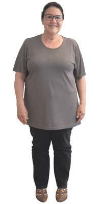 Christine Unterlerchner de Derendingen avant de perdre du poids avec ParaMediForm