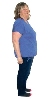 Corina Keusch de Stettfurt avant de perdre du poids avec ParaMediForm