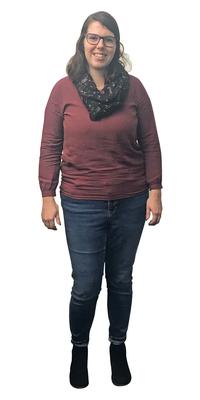 Sabrina Röthlin aus Kerns vor dem Abnehmen mit ParaMediForm