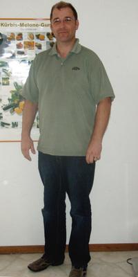 Thomas Aeschlimann de Rüderswil avant de perdre du poids avec ParaMediForm