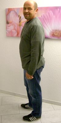 Stefan Sandmeier aus Aarau vor dem Abnehmen mit ParaMediForm