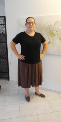 Evelyne  von Wyl de Gipf-Oberfrick avant de perdre du poids avec ParaMediForm