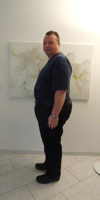 Gianpero Bagatella de Schöftland avant de perdre du poids avec ParaMediForm