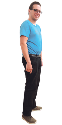 Simon Baumgartner aus Biel vor dem Abnehmen mit ParaMediForm