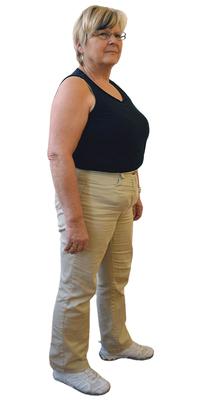 Sonja Schaffer aus Gerolfingen vor dem Abnehmen mit ParaMediForm