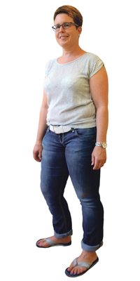 Sandra Vogt aus Täuffelen BE vor dem Abnehmen mit ParaMediForm