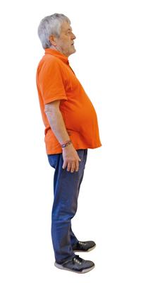 Raymond Schlup aus Biel vor dem Abnehmen mit ParaMediForm