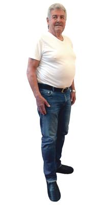 André Paroz aus Leubringen BE vor dem Abnehmen mit ParaMediForm