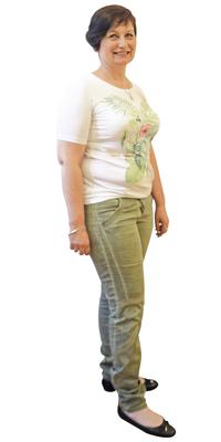 Sandra Racine aus Péry-La Heutte BE vor dem Abnehmen mit ParaMediForm