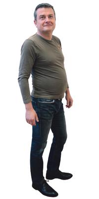 André Furrer aus Nidau vor dem Abnehmen mit ParaMediForm