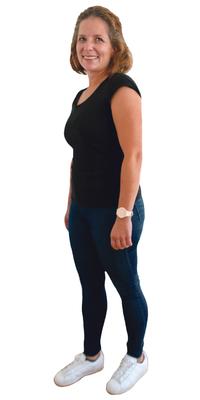Pia Luginbühl de Bienne après avoir perdu du poids avec ParaMediForm