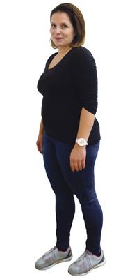 Pia Luginbühl de Bienne avant de perdre du poids avec ParaMediForm