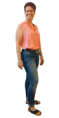 Sandra Vogt de Täuffelen BE après avoir perdu du poids avec ParaMediForm