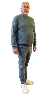 Ralph Gerber de Mont-Tramelan avant de perdre du poids avec ParaMediForm
