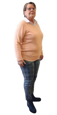 Christiane Kaufmann de Bienne avant de perdre du poids avec ParaMediForm