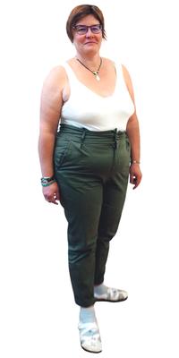 Laurence Nicolet de Tramelan BE avant de perdre du poids avec ParaMediForm