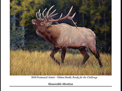"Winner of the ""2018 Rocky Mountain Elk foundation Featured Artist"""
