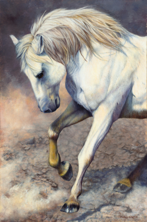"""Victory Dance"" - 36""x 24"" Oil on Linen, Wild Horse of Sand Wash Basin , Original Available, Prints Available"