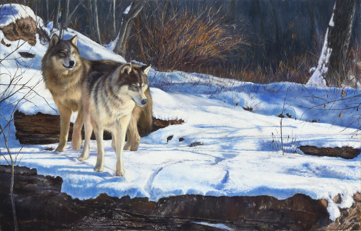"""""""Going Going Gone"""" - 18""""x 28"""" Oil on Linen, Original Available, Prints Available"""