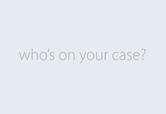 Who's on your case? logo